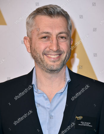 Den Tolmor arrives at the 88th Academy Awards Nominees Luncheon at The Beverly Hilton hotel, in Beverly Hills, Calif