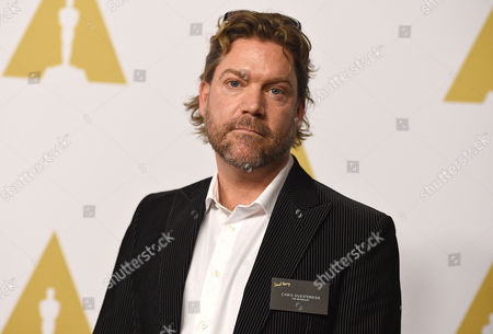 Chris Duesterdiek arrives at the 88th Academy Awards Nominees Luncheon at The Beverly Hilton hotel, in Beverly Hills, Calif