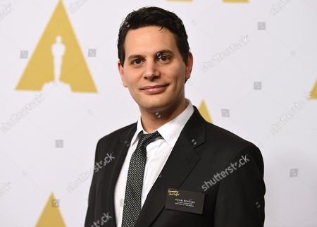 Adam Benzine arrives at the 88th Academy Awards Nominees Luncheon at The Beverly Hilton hotel, in Beverly Hills, Calif