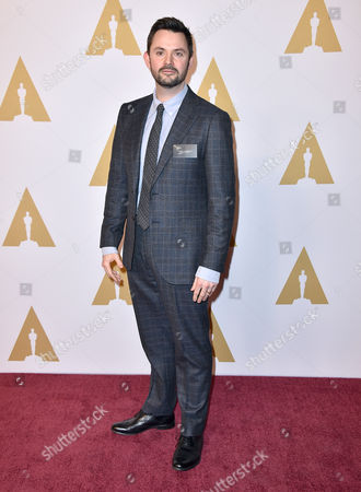 Matt Charman arrives at the 88th Academy Awards Nominees Luncheon at The Beverly Hilton hotel, in Beverly Hills, Calif