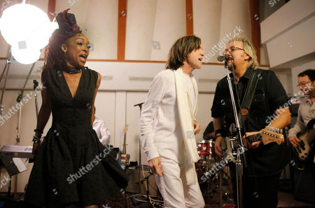 IMAGE DISTRIBUTED FOR CHARITY -From left, Siedah Garrett, Glen Ballard and David Pack perform at A Night for Jolie Levine Sponsored by Lupus LA & Sweet Relief Musicians Fund, at Henson Studios on Friday, May, 31, 2013 in Los Angeles