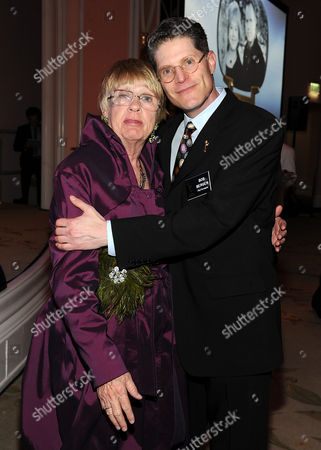 MARCH 1: Kathryn Joosten and Bob Bergen attend the Academy of Television Arts & Sciences 21st Annual Hall of Fame Ceremony at the Beverly Hills Hotel on in Beverly Hills, California
