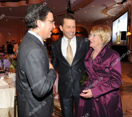 MARCH 1: (L-R) Television Academy Chairman & CEO Bruce Rosenblum, actor Jon Cryer, and actor Kathryn Joosten attend the Academy of Television Arts & Sciences 21st Annual Hall of Fame Ceremony at the Beverly Hills Hotel on in Beverly Hills, California