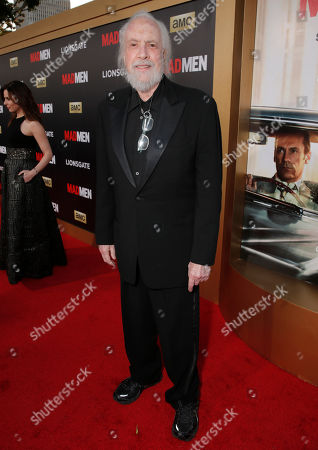 """Stock Photo of Robert Towne arrives at AMC's Black & Red Ball to celebrate the final episodes of """"Mad Men"""" at Dorothy Chandler Pavilion, in Los Angeles"""