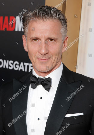 """Christopher Stanley arrives at AMC's Black & Red Ball to celebrate the final episodes of """"Mad Men"""" at Dorothy Chandler Pavilion, in Los Angeles"""