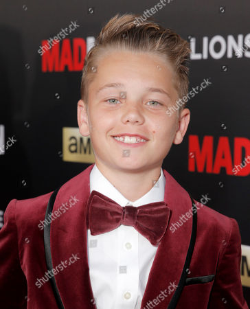 """Mason Vale Cotton arrives at AMC's Black & Red Ball to celebrate the final episodes of """"Mad Men"""" at Dorothy Chandler Pavilion, in Los Angeles"""