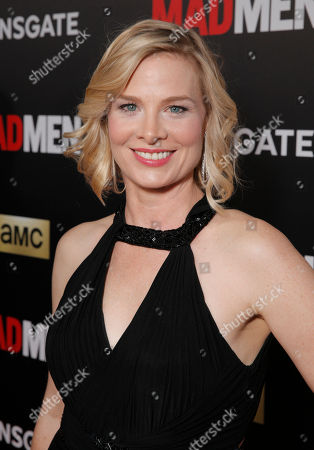 """Melinda Page Hamilton arrives at AMC's Black & Red Ball to celebrate the final episodes of """"Mad Men"""" at Dorothy Chandler Pavilion, in Los Angeles"""