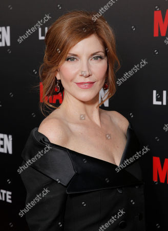 "Melinda McGraw arrives at AMC's Black & Red Ball to celebrate the final episodes of ""Mad Men"" at Dorothy Chandler Pavilion, in Los Angeles"
