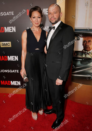 """Stock Photo of Lisa Joyner, left, and Jon Cryer arrive at AMC's Black & Red Ball to celebrate the final episodes of """"Mad Men"""" at Dorothy Chandler Pavilion, in Los Angeles"""