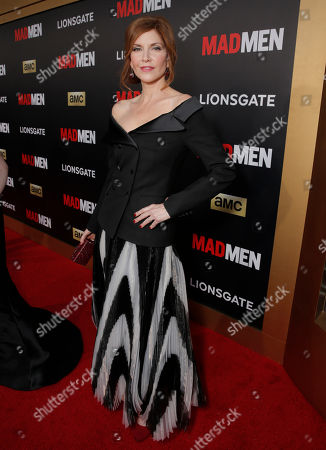 """Stock Image of Melinda McGraw arrives at AMC's Black & Red Ball to celebrate the final episodes of """"Mad Men"""" at Dorothy Chandler Pavilion, in Los Angeles"""