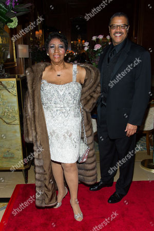 Stock Photo of Aretha Franklin and Willie Wilkerson attend Aretha's annual birthday bash at The Ritz Carlton, in New York