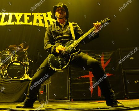 Tom Maxwell of Hellyeah performs at the Seminole Hotel and Casinos Hard Rock Live on in Hollywood, Florida