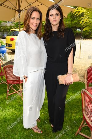 Beach Magazine Editor-in-Chief Cristina Greeven Cuomo and actress Alexandra Daddario attend Beach Magazine's Cover Party at Osteria Salina in Wainscott, in New York