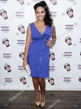 Nadia Dawn arrives at BOBS from Skechers' summer soiree to celebrate over 5 million donated pairs of shoes to children in need at the Skybar on in Los Angeles
