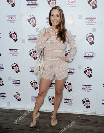 Tenille Houston arrives at BOBS from Skechers' summer soiree to celebrate over 5 million donated pairs of shoes to children in need at the Skybar on in Los Angeles