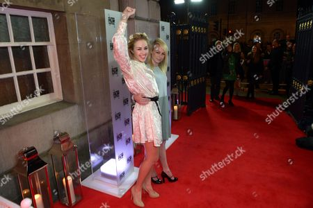FEMEN activist Alexandra 'Sasha' Shevchenko and director and Australian filmmaker Kitty Green arrive at the 57th BFI London Film Festival Awards Night at Banqueting House Whitehall,, in London