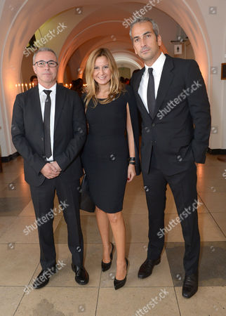 Stock Picture of Alphan Eseli (right) and guests attend the 57th BFI London Film Festival Awards Night at Banqueting House Whitehall,, in London