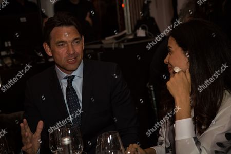 Actors Dougray Scott and Zuleikha Robinson attend the 'Brilliant is Beautiful' fund raiser dinner organized by the NGO Artists for Peace and Justice, in London