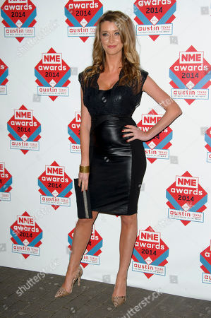 Sarah Champion arrives for the NME Awards 2014 at a central London venue, London
