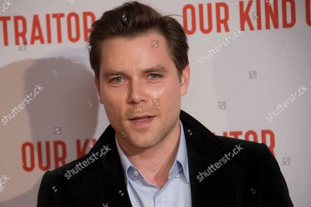 Stock Photo of Marek Oravec poses for photographers upon arrival at the UK Gala Premiere of Our Kind Of Traitor, at a central London hotel