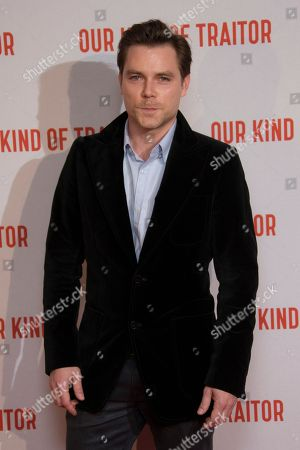 Marek Oravec poses for photographers upon arrival at the UK Gala Premiere of Our Kind Of Traitor, at a central London hotel