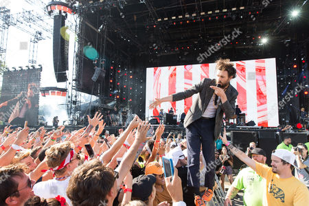 Alex Ebert of Edward Sharpe and the Magnetic Zeros performs at The Budweiser Made In America Festival, in Philadelphia