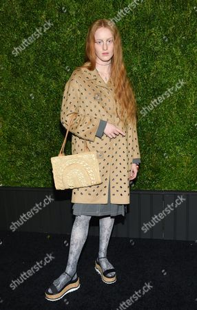 Stock Photo of India Salvor Menuez attends the CHANEL Tribeca Film Festival Artist Dinner at Balthazar Restaurant, in New York