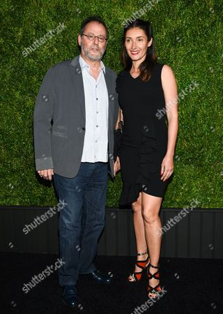 French actor Jean Reno and wife Zofia Borucka attend the CHANEL Tribeca Film Festival Artist Dinner at Balthazar Restaurant, in New York