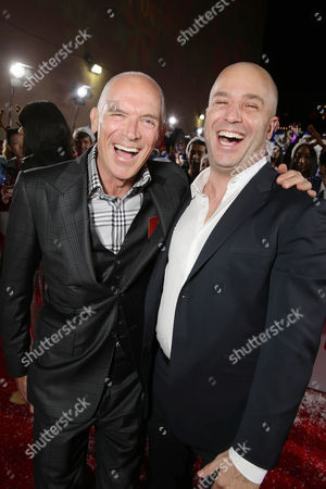 Stock Picture of Executive Producers Joseph Drake and Nathan Kahane seen at Columbia pictures present the World Premiere of 'The Night Before', in Los Angeles, CA