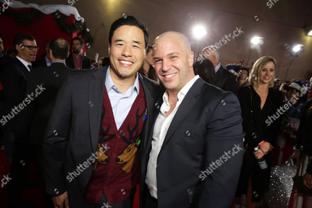 Stock Image of Randall Park and Executive Producer Nathan Kahane seen at Columbia pictures present the World Premiere of 'The Night Before', in Los Angeles, CA