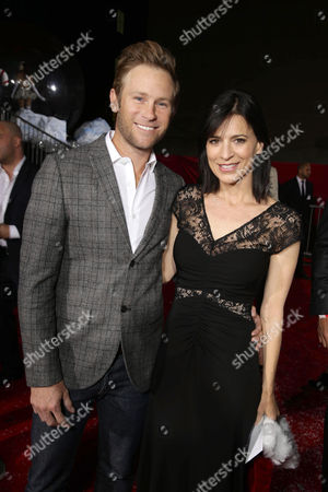 Aaron Endress-Fox and Perrey Reeves seen at Columbia pictures present the World Premiere of 'The Night Before', in Los Angeles, CA