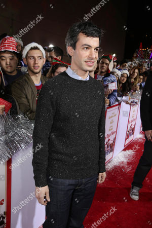 Nathan Fielder seen at Columbia pictures present the World Premiere of 'The Night Before', in Los Angeles, CA