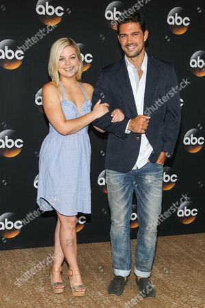 Kirsten Storms and Ryan Paevey attend the Disney/ABC Television Group 2014 Summer TCA held at the Beverly Hilton Hotel, in Beverly Hills, Calif