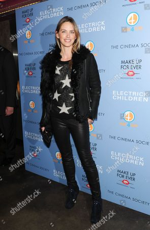 "Model Leilani Bishop attends a special screening of ""Electrick Children"" hosted by the Cinema Society and Make Up For Ever at the IFC Center on in New York"