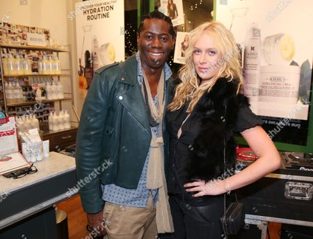 Miss J Alexander, left, and CariDee English attend the Kiehl's Earth Day Party co-hosted by Elizabeth Olsen and Maggie Q benefitting Recycle Across America at the Kiehl's Since 1851 store in Santa Monica, Calif. on