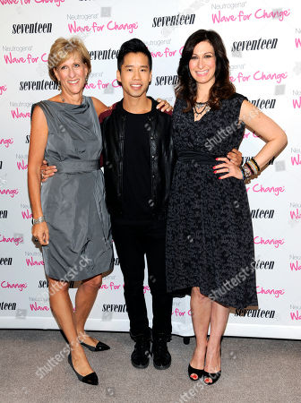 """Publisher Jayne Jamison, left, celebrity blogger Jared Eng and Seventeen editor-in-chief Ann Shoket attend Seventeen Magazine's """"Pretty Amazing"""" finalists luncheon at Hearst Tower on in New York"""