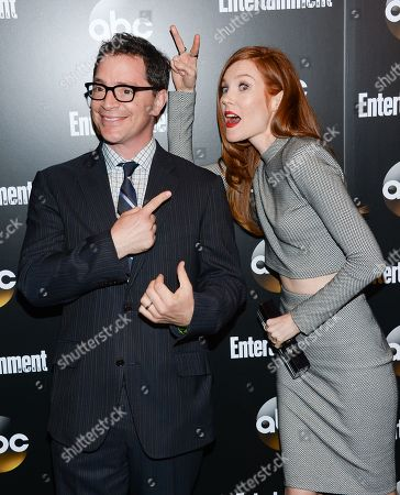 """Actors Josh Malina and Darby Stanchfield from the show """"Scandal"""" attend the Entertainment Weekly and ABC network upfront party, in New York"""