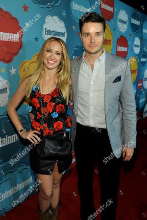 Actors Anna Camp, left, and Michael McMillian attend Entertainment Weekly's Comic-Con Celebration at FLOAT at the Hard Rock Hotel, in San Diego