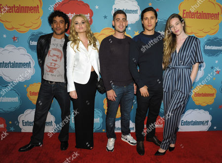 From left, actors Naveen Andrews, Emma Rigby, Michael Socha, Peter Gadiot and Sophie Lowe attend Entertainment Weekly's Comic-Con Celebration at FLOAT at the Hard Rock Hotel, in San Diego