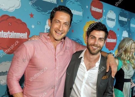 Actors Sasha Roiz, left, and David Giuntoli attend Entertainment Weekly's Comic-Con Celebration at FLOAT at the Hard Rock Hotel, in San Diego