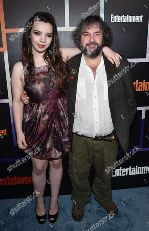 Peter Jackson, right, and Katie Jackson arrive at Entertainment Weekly's Annual Comic-Con Closing Night Celebration at the Hard Rock Hotel, in San Diego