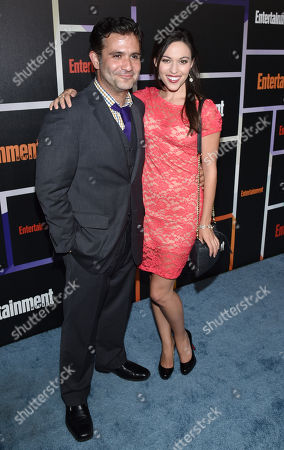 Mark Gagliardi, left, and Juliana Hansen arrive at Entertainment Weekly's Annual Comic-Con Closing Night Celebration at the Hard Rock Hotel, in San Diego