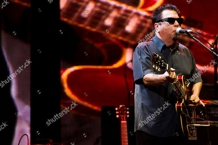 Cesar Rosas of Los Lobos performs at Eric Clapton's Crossroads Guitar Festival 2013 at Madison Square Garden on in New York