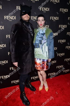 Eli Mizrahi and Michelle Harper attends Fendi's New York Flagship Boutique opening celebration, in New York