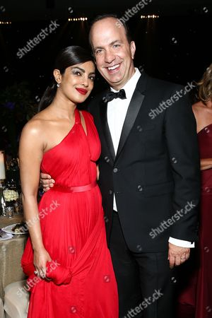 Priyanka Chopra, left, and Ben Sherwood attend Ferrari at the 68th Primetime Emmy Awards Governors Ball held at the L.A. Convention Center, in Los Angeles