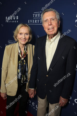 "Stock Picture of Eva Marie Saint and Jeffrey Hayden seen at Focus Features Los Angeles premiere of ""The Theory of Everything"", in Beverly Hills"