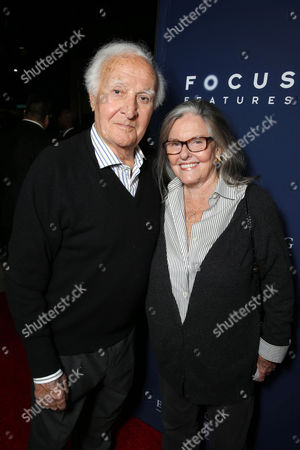 """Robert Loggia and Audrey Loggia seen at Focus Features Los Angeles premiere of """"The Theory of Everything"""", in Beverly Hills"""