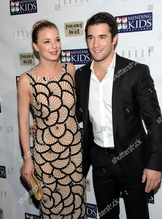 """Actress Emily Van Camp and actor Josh Bowman attend """"Four Kings and an Ace"""" celebrity charity poker tournament at The London Hotel, in West Hollywood, Calif"""