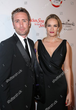 Philippe Cousteau Jr., left, and Ashlan Gorse attend the American Humane Association's 4th Annual Hero Dog Awards at the Beverly Hilton Hotel, in Beverly Hills, Calif