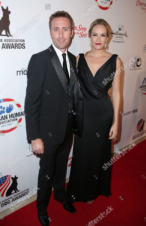 """Philippe Cousteau Jr., left, and Ashlan Gorse attend the American Humane Association's 4th Annual """"Hero Dog Awards"""" at the Beverly Hilton Hotel, in Beverly Hills, Calif"""
